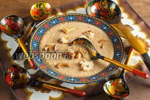 Постный диетический суп-пюре из лисичек