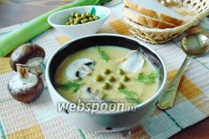 Суп с консервированным зелёным горошком