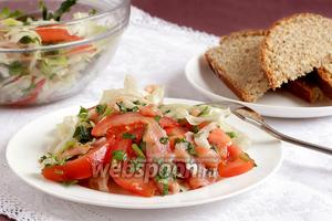 Салат с сёмгой и помидорами
