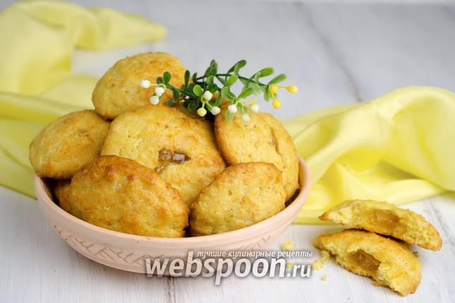 Фото Кукурузное печенье с начинкой