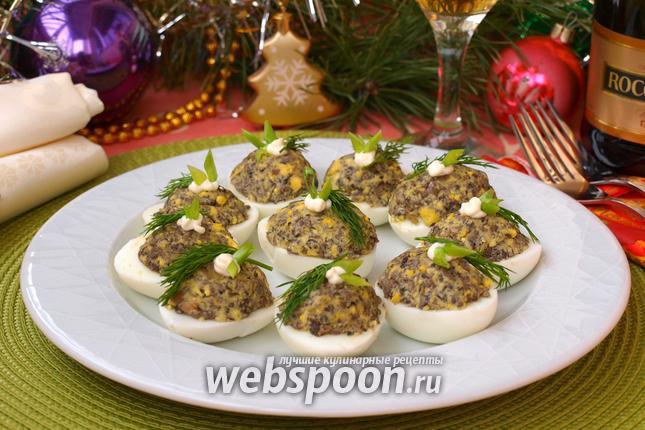 Фото Яйца фаршированные грибами