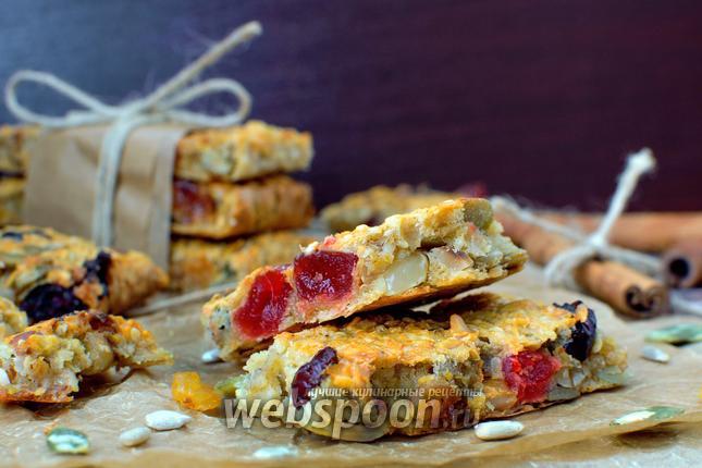 Рецепт Овсяные батончики с сухофруктами и орехами