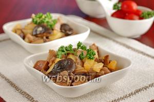 Индейка с грибами шиитаке и ананасом
