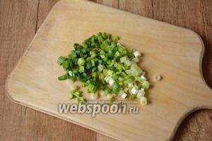 Зелёный лук мелко порезать.