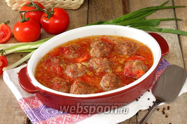 Фото Тефтели с сыром в томатном соусе