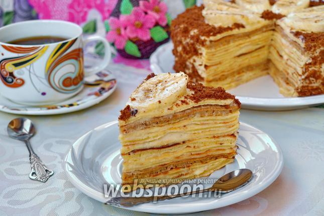 Фото Блинный торт с бананом