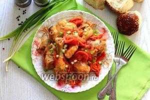 Куриные голени с горчицей и сладким перцем в мультиварке