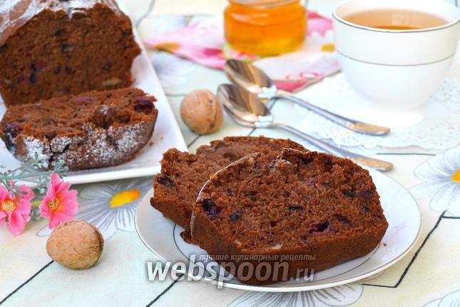 Фото Постный кекс с вишней и имбирём