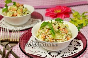 Салат «Оливье» с сёмгой