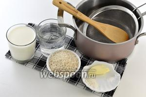 Для работы нам понадобится рис, молоко, вода, соль, сливочное масло.