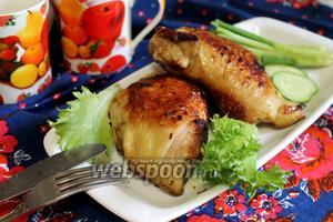 Куриные бёдра в пряном маринаде жареные