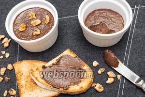 Шоколадная паста с орехами