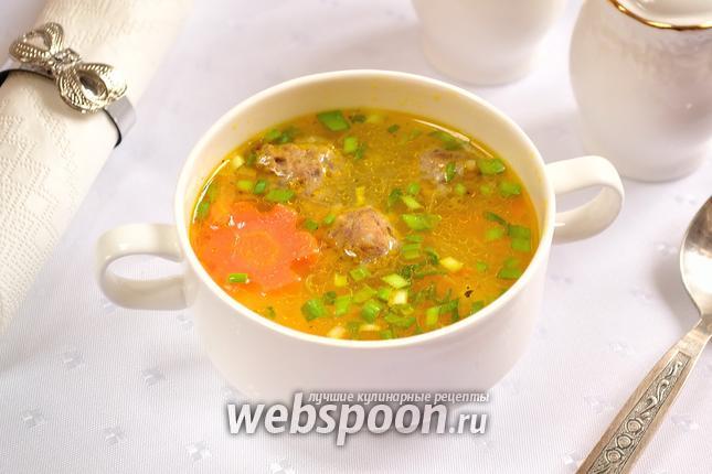 Фото Рисовый суп с фрикадельками