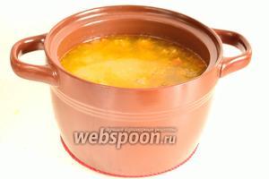 Рисовый суп с фрикадельками готов.