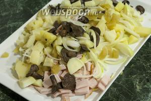 Перемешиваем все ингредиенты финского салата.