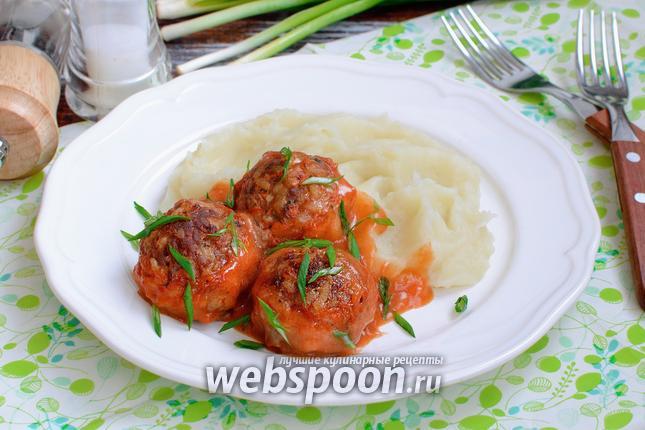 Фото Тефтели в томатно-сметанном соусе