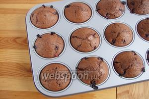 Готовые кексы остужаем и можно кушать. Приятного аппетита!