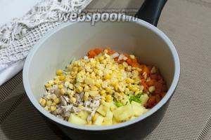 Горох должен быть хорошо промыт от соды перед его добавлением к остальным продуктам.