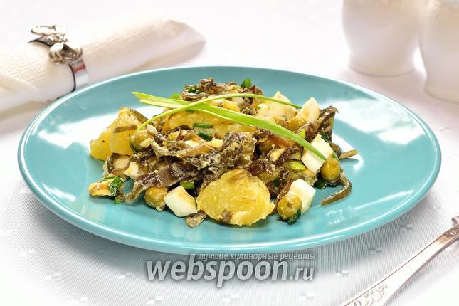 Фото Картофельный салат с морской капустой