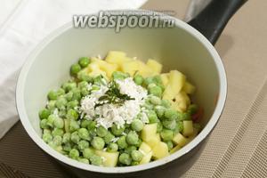 Для аромата и витаминов — щепотка свежего или замороженного укропа.