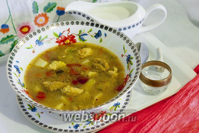 Фото Суп с фрикадельками и клёцками