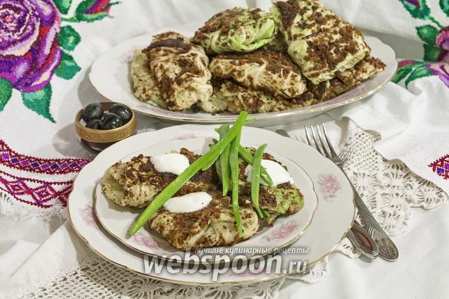 Фото Зразы из савойской капусты с маслятами