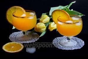 Крюшон из шампанского с апельсинами