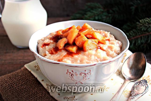 Фото Рисовый пудинг с яблоками