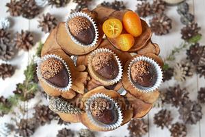 Свежие кумкваты в шоколаде