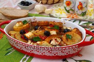 Сковорода с картофелем по-гречески