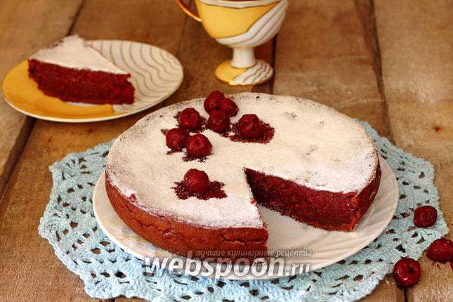 Фото Постный вишнёво-шоколадный кекс в мультиварке