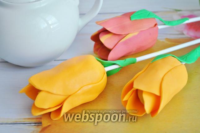Фото Кейк попсы тюльпаны