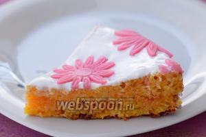 Пасхальный морковный торт cервируем. Приятного аппетита!