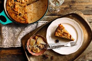Болонский пирог из поленты с сухофруктами