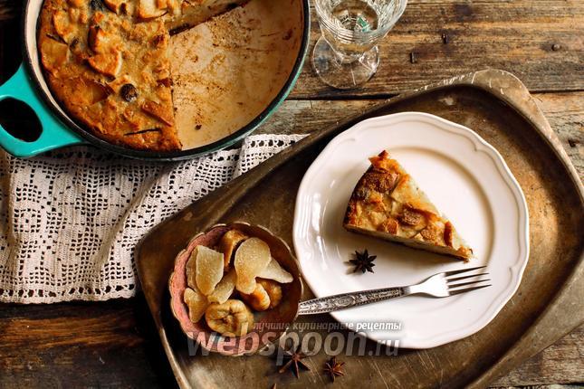 Фото Болонский пирог из поленты с сухофруктами