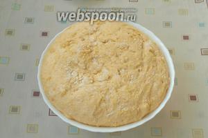 Вот так будет выглядеть тесто после расстойки.