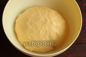 Подошедшее тесто обмять, сформовать булочки и поставить для подъёма на 15-20 минут.