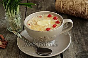 Рисовый пудинг на топлёном молоке с вишней
