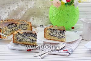 Творожно-маковый пирог на песочном тесте