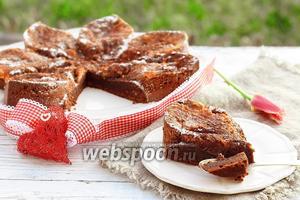 Мокрый шоколадный кухен с апельсиновым курдом