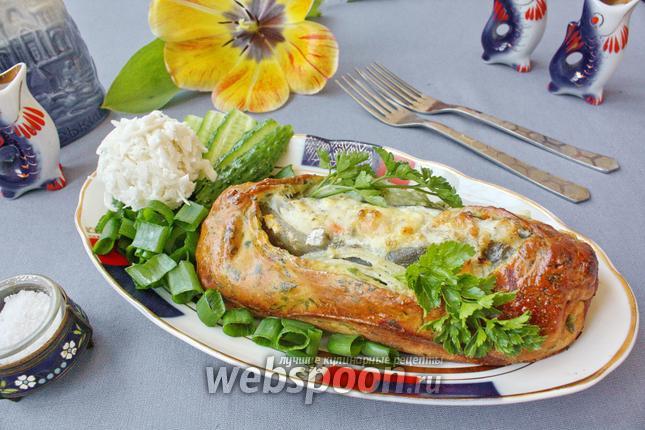 Фото Зубатка в тесте с овощами
