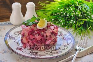 Салат свекольный со свиным языком
