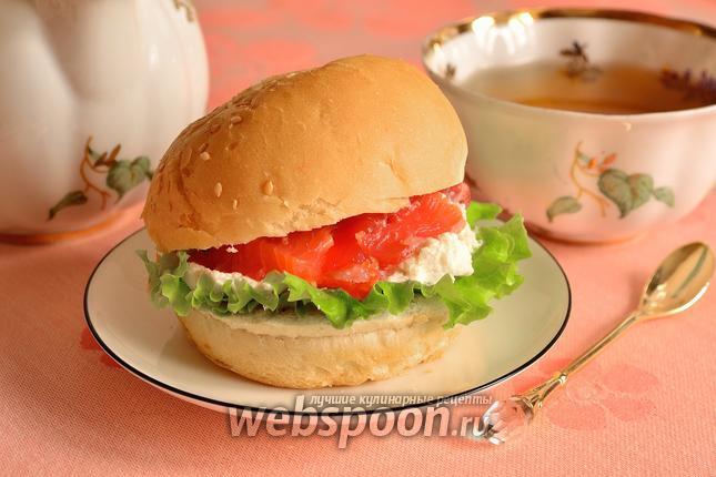 Фото Фишбургер с форелью