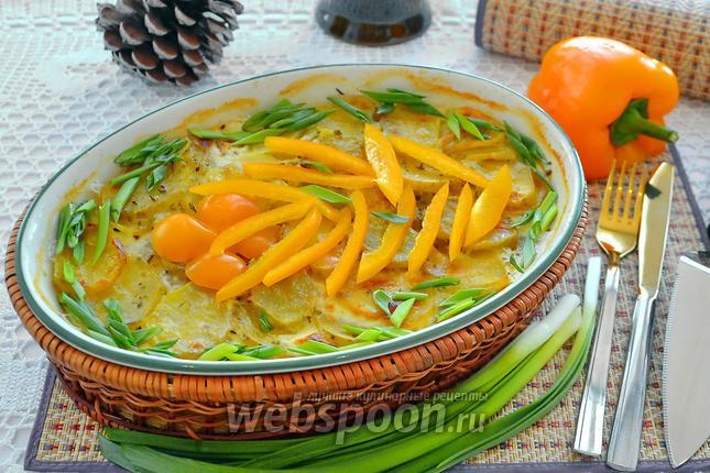 Фото Картофель со сливками в духовке