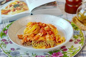 Феттучини с рыбным соусом