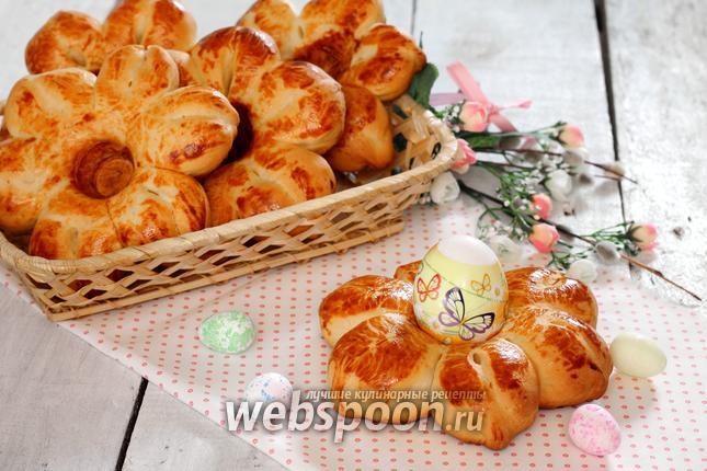 Фото Булочки «подставки» для пасхальных яиц