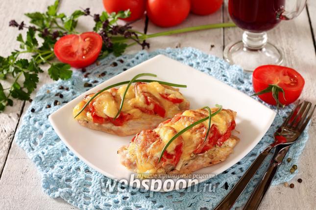 Мясо по-французски с помидорами 39