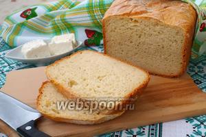 Хлеб на йогуртовой закваске с брынзой в хлебопечке