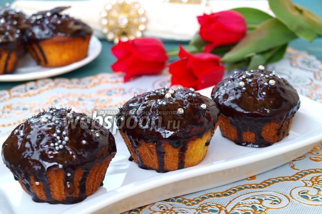 Фото Творожные кексы с клюквой