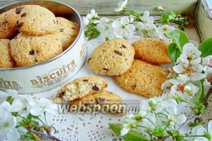 Печенье с шоколадной крошкой йогуртовое